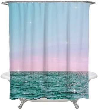 Oliver Gal Pastel Twilight Horizon Shower Curtain