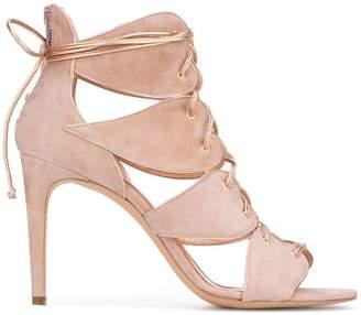 Jean-Michel Cazabat lace-up heart sandals
