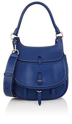 Fontana Milano Women's Chelsea Small Leather Saddle Bag - Blue