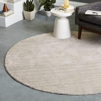 west elm Hand-Loomed Shine Rug - Round