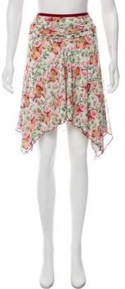 Diane von Furstenberg Silk Floral Print Skirt