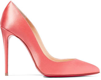 Christian Louboutin Pigalle Follies 100 Satin Pumps - Blush