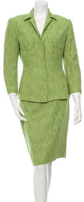 Dolce & Gabbana Tweed Pencil Skirt Suit $245 thestylecure.com