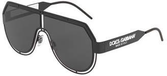 Dolce & Gabbana Men's Fluorescent Aviator Mask Sunglasses