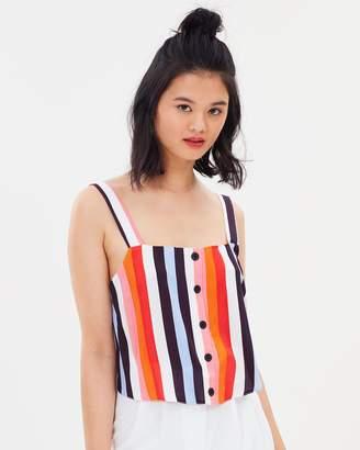 Miss Selfridge Multi Stripe Camisole