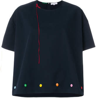 Mira Mikati rainbow knit top