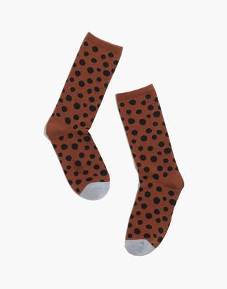 Madewell Leopard Dot Trouser Socks