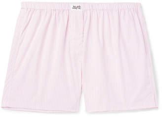 Les Girls Les Boys Striped Cotton Boxer Shorts