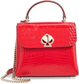 Kate Spade Romy Croc-Embossed Leather Top Handle Bag