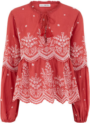Scarlet Lucie Embroidered Smock Blouse