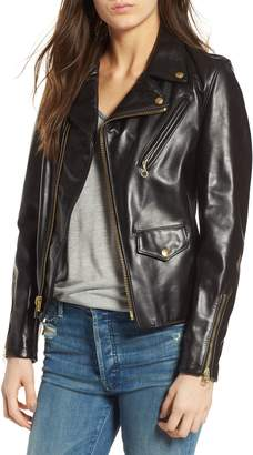 Schott NYC Leather Moto Jacket