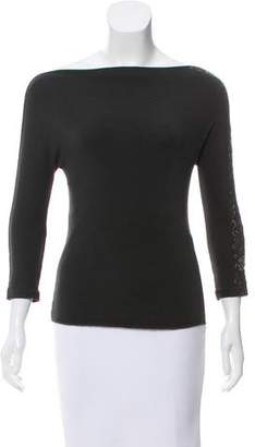 Blumarine Embroidered Knit Top