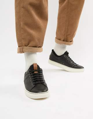Polo Ralph Lauren dunovin leather sock trainers in black