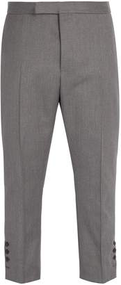 Thom Browne Tri-colour cuff-trim wool trousers