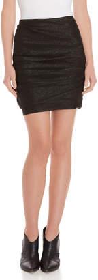 Maje Gathered Lurex Mini Skirt