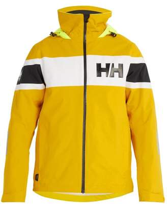 Helly Hansen Salt Flag Hooded Waterproof Jacket - Mens - Yellow Multi