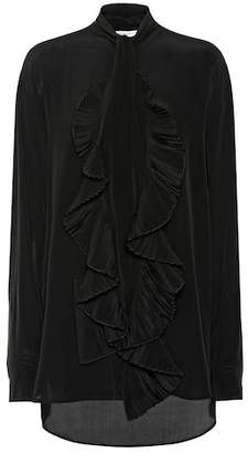 Givenchy Ruffled silk crêpe shirt