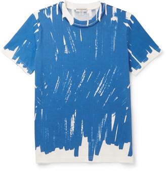Balenciaga Slim-Fit Printed Cotton-Jersey T-Shirt $285 thestylecure.com