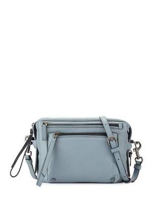 MARC by Marc Jacobs Cube Lamb Leather Messenger Bag, Ice Blue $398 thestylecure.com