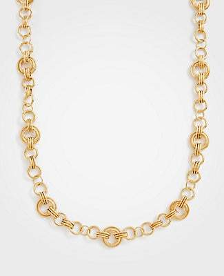 Ann Taylor Metallic Station Necklace