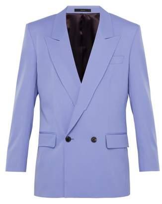 Paul Smith Double Breasted Wool Blazer - Mens - Purple