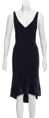 Narciso Rodriguez V-Neck Silk Dress w/ Tags