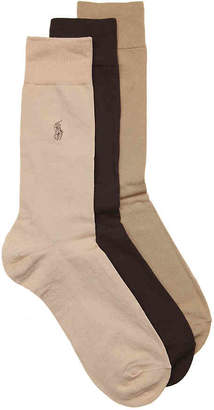 Polo Ralph Lauren Flat Knit Dress Socks - 3 Pack - Men's