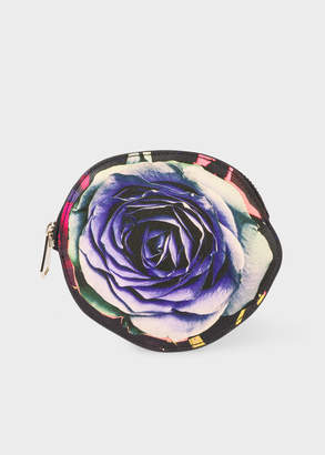 Paul Smith 'Rose Collage' Print Leather Zip-Pouch