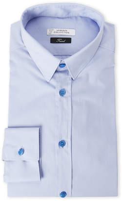 Versace Light Blue Trend Fit Dress Shirt