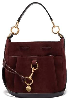 See by Chloe Tony Medium Suede Bucket Bag - Womens - Burgundy