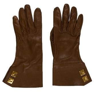 Hermes Leather Kelly Lock Gloves