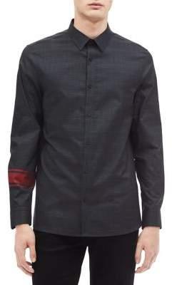 Calvin Klein Modern-Fit Contrast Glen Plaid Shirt