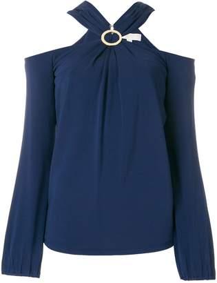 MICHAEL Michael Kors brooch embellished blouse