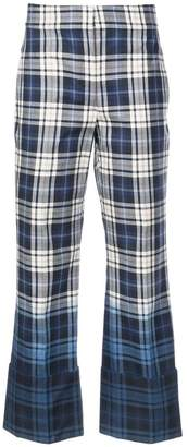 Oscar de la Renta checkered trousers