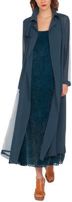 Akris Organza Silk Trench-Style Coat