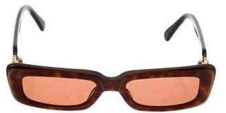 Kieselstein-Cord Tortoiseshell Rectangle Sunglasses