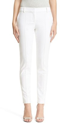 Women's St. John Collection 'Jennifer' Stretch Micro Ottoman Ankle Pants $495 thestylecure.com