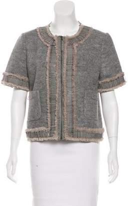 Giles Silk Zip-Up Jacket