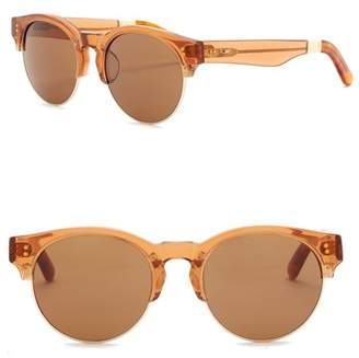 Toms Charlie Rae 52mm Clubmaster Sunglasses