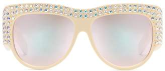 Gucci Oversize sunglasses with crystals