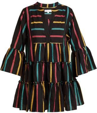 Caroline Constas Lyssa striped cotton-blend dress