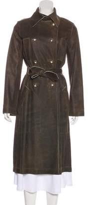 Tuleh Leather Trench Coat
