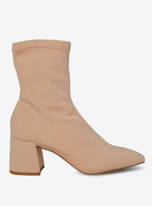 Dorothy Perkins Womens Nude 'Ava' Sock Boots