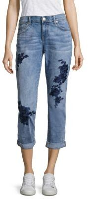 True Religion Cameron Embroidered Boyfriend Jeans $249 thestylecure.com