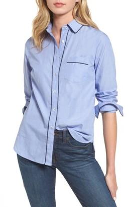 Women's J.crew Tipped Pajama Shirt $78 thestylecure.com
