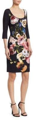 Naeem Khan Floral-Print Shift Dress