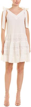 Rebecca Taylor Lace Silk A-Line Dress