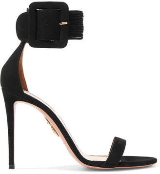 Aquazzura Casablanca Suede Sandals - Black