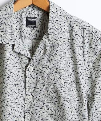 Todd Snyder Short Sleeve Liberty Print Leaves Camp Collar Shirt