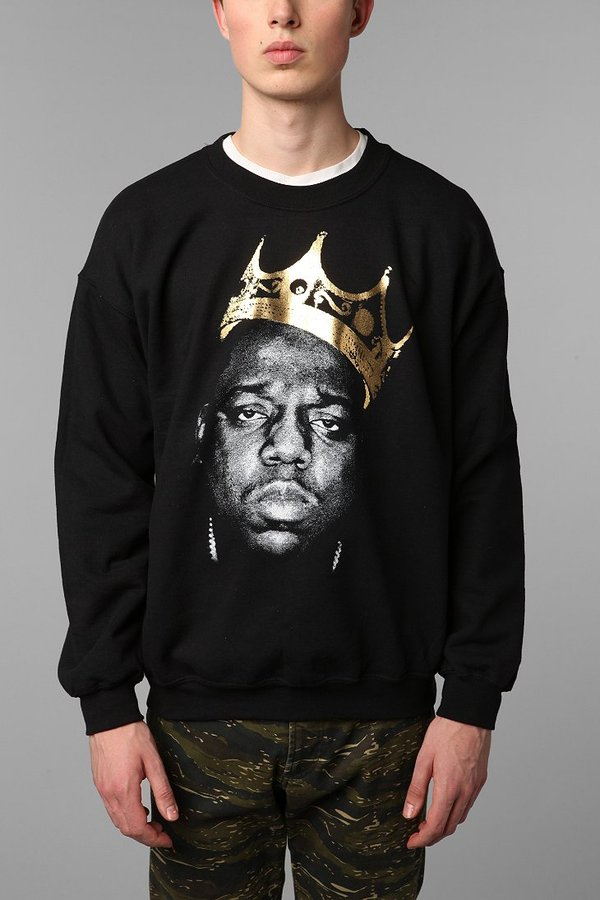 Urban Outfitters Biggie King Of NYC Pullover Sweatshirt
